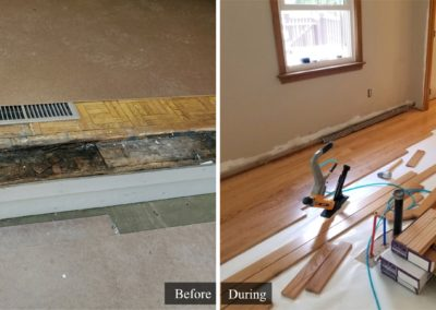 Caron Building & Remodeling - Wood Flooring Install